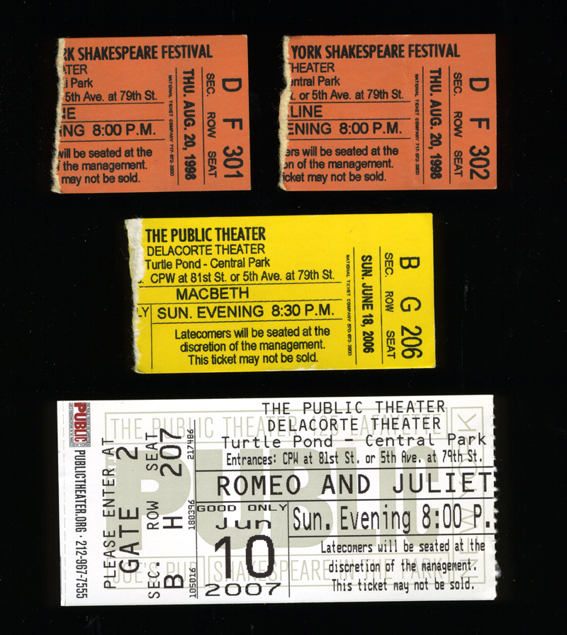 Shakespeare in the Park Tickets