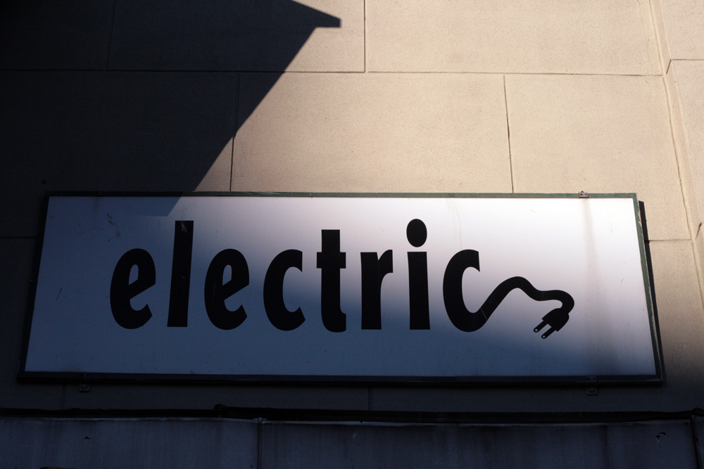 Vernacular Typography Newark Electric Sign