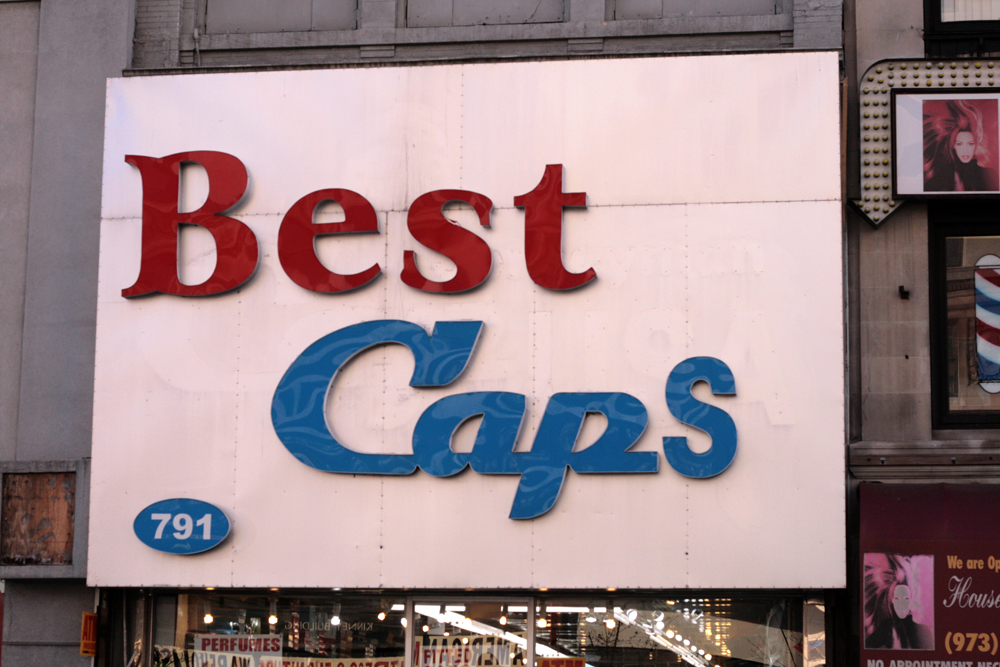 Vernacular Typography Newark Best Caps Sign