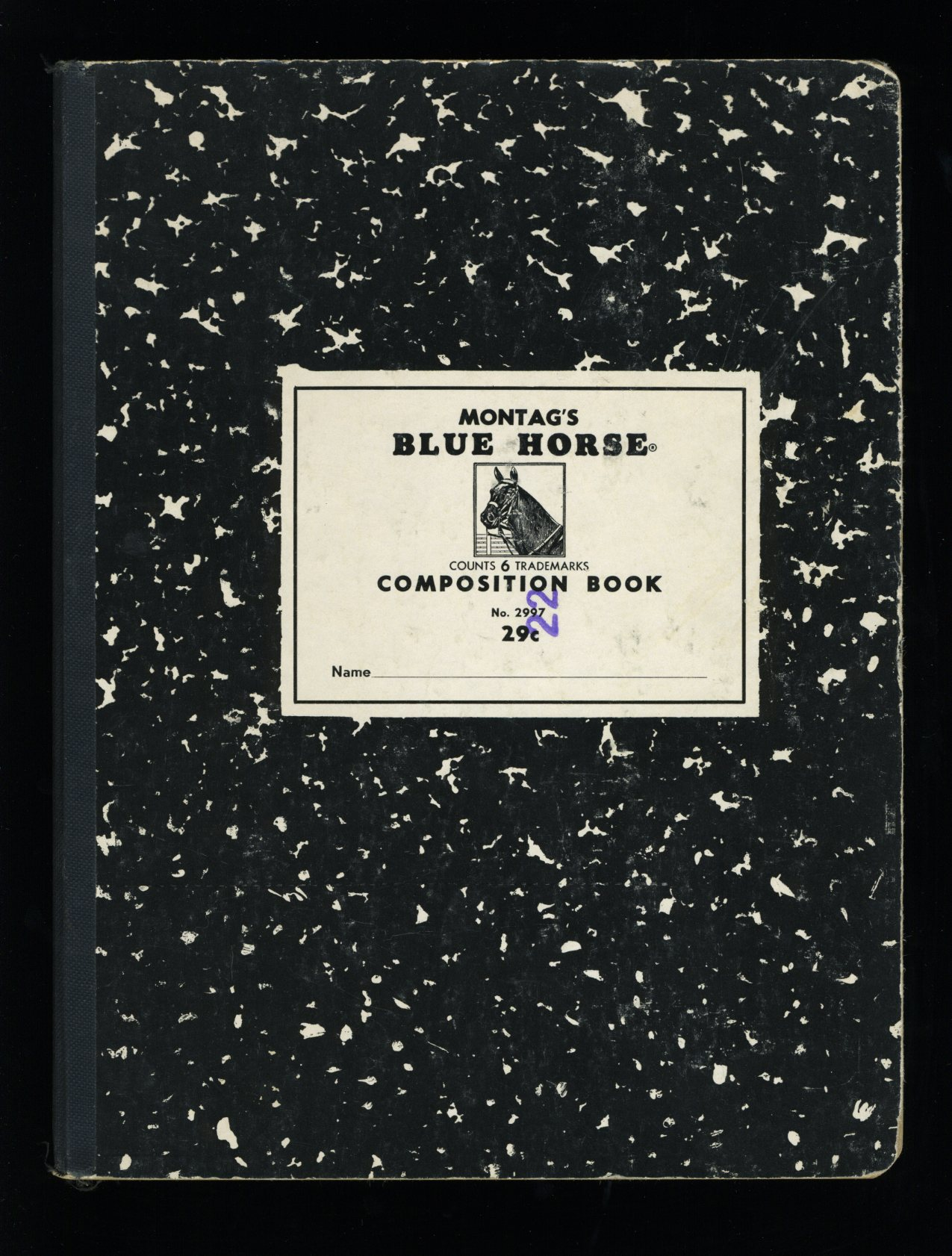 Montag's Blue Horse Composition Book
