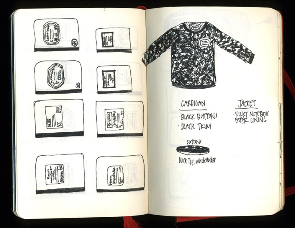 Composition Notebook Pattern Jacket Sketch