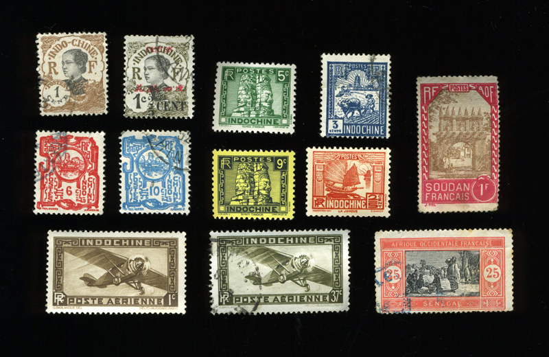 Vernacular Typography Stamps Indochine