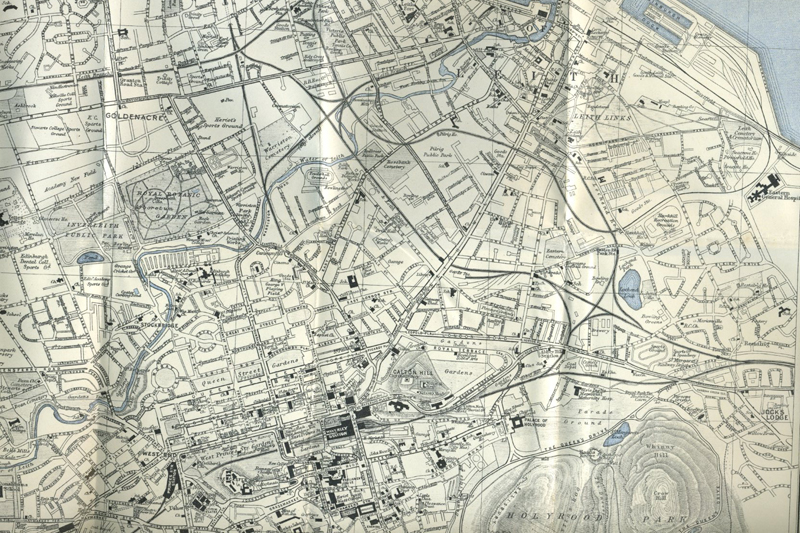 Ward, Lock & Co. Edinburgh Map