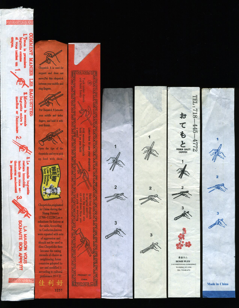Vernacular Typography Chopstick Wrapper Back