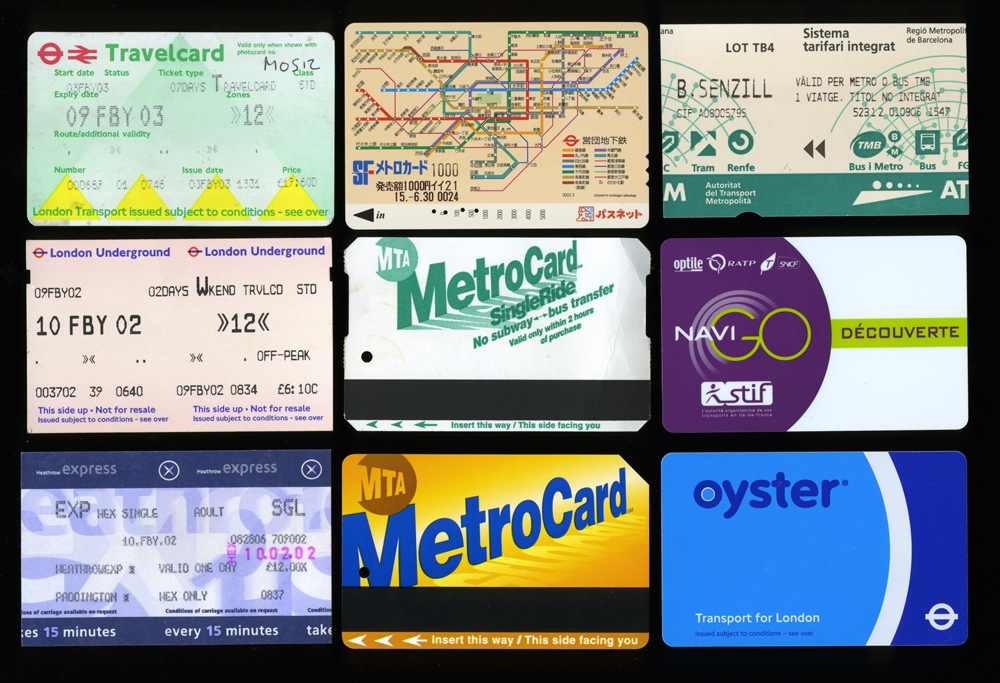 Vernacular Typography Train Tickets