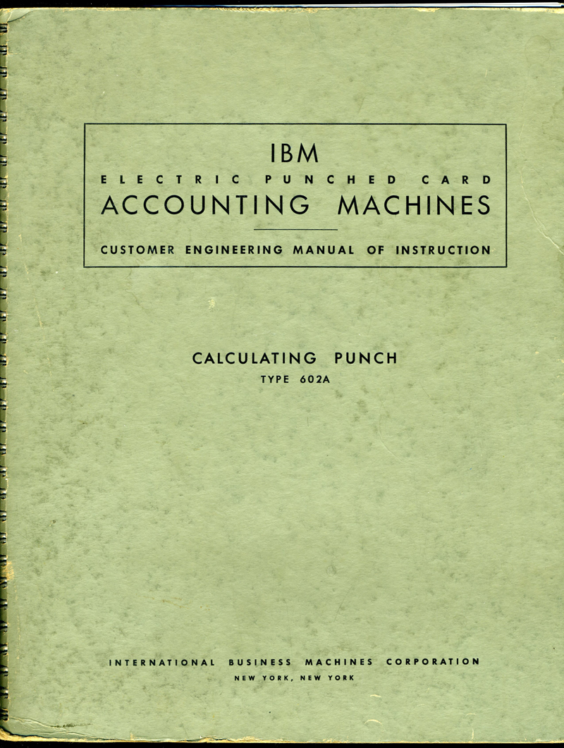 IBM Calculating Punch Manual