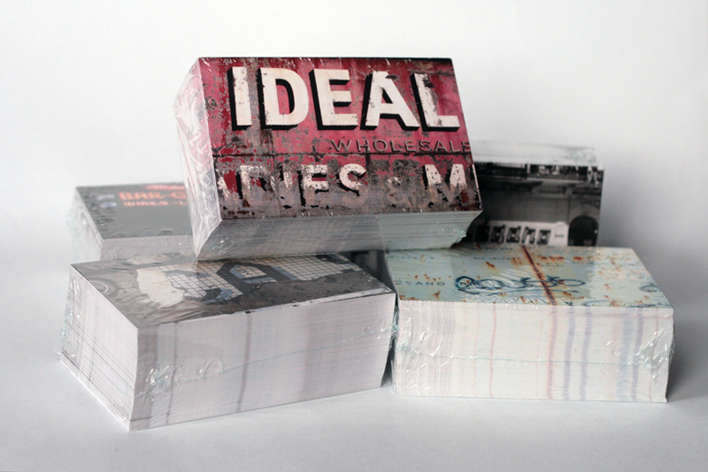 Vernacular Typography promotional postcards set