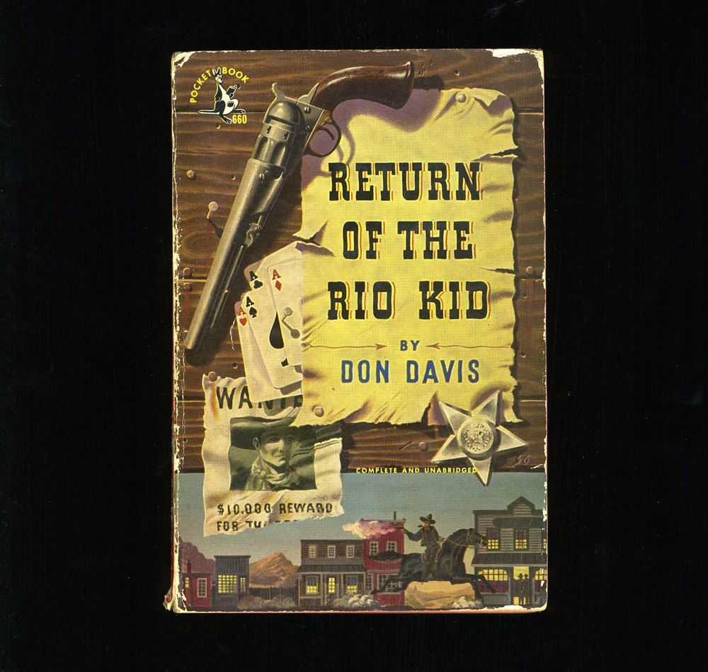 Vernacular Typography Found Vintage Book Covers Rio Kid