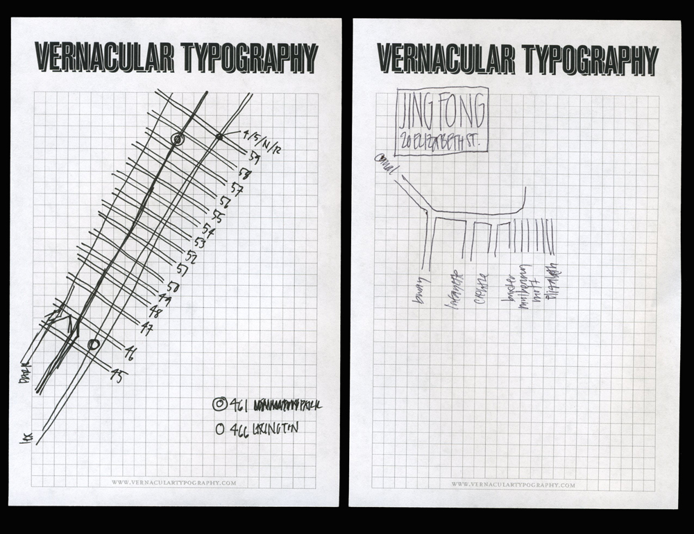 Vernacular cartography typography hand drawn maps