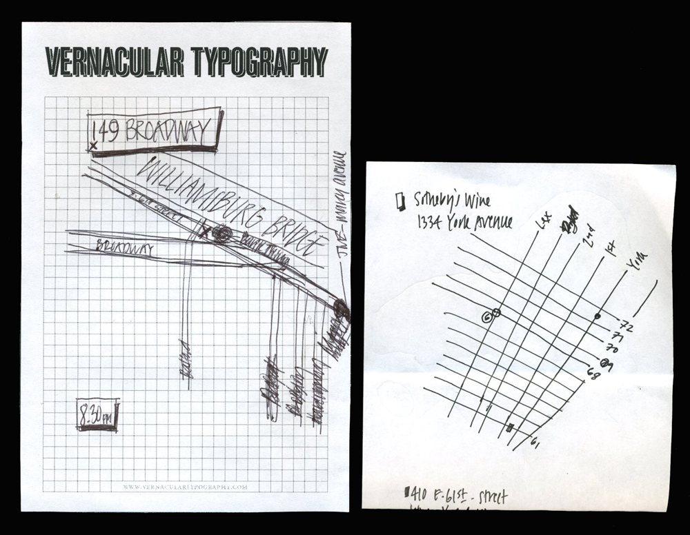 vernacular cartography typography hand drawn scribbled maps