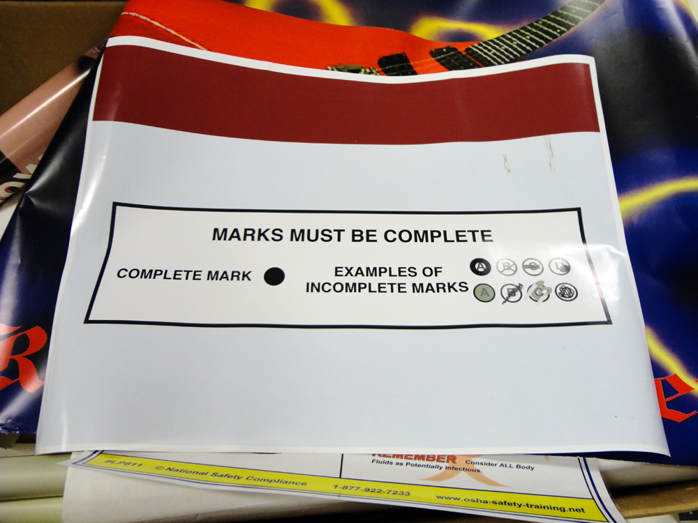 Materials for the Arts Marks Must Be Complete Poster