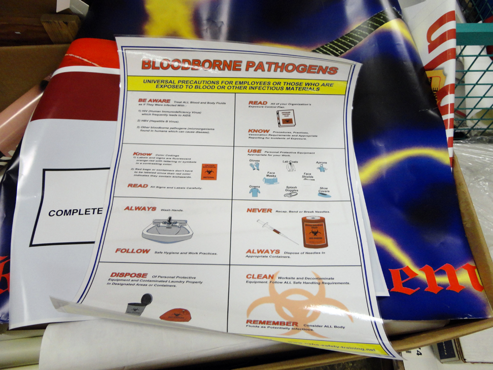 Materials for the Arts Bloodborne Pathogens Poster