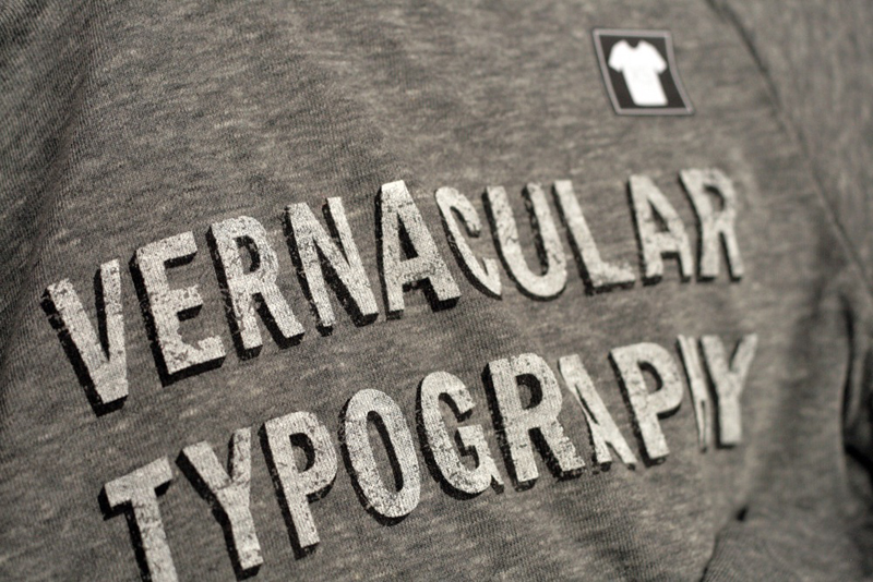 9 Woodward Vernacular Typography Screen Printed T Shirt 003