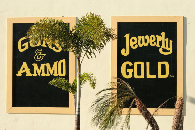 Woodward Vernacular Typography Hand Painted Sign Palm Beach 014