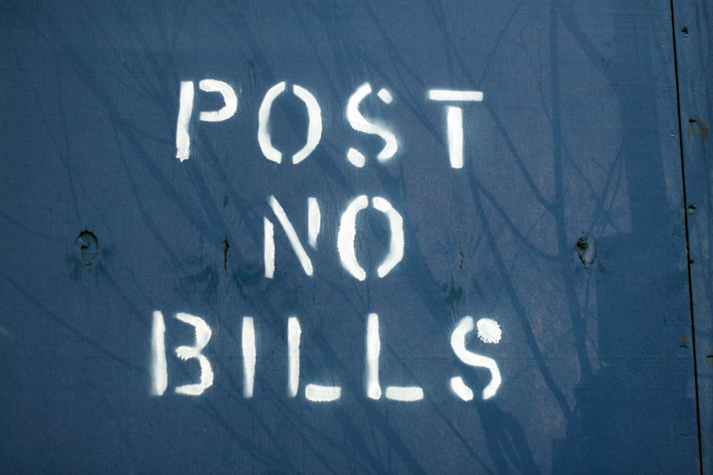 Post No Bills Vernacular Typography