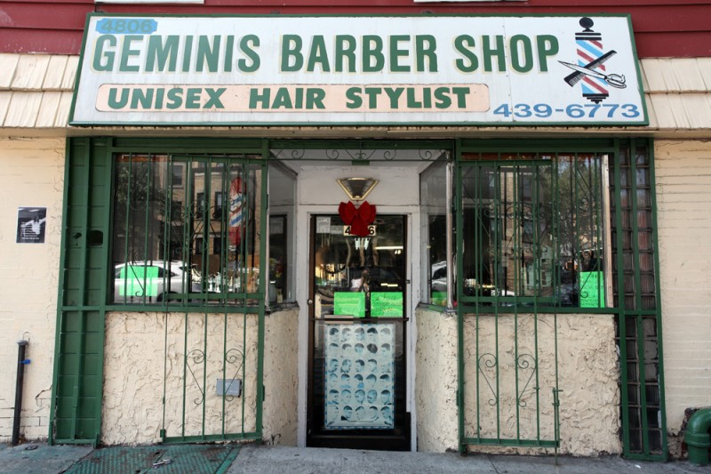 Woodward Vernacular Typography Sunset Park Brooklyn Geminis Barber Shop
