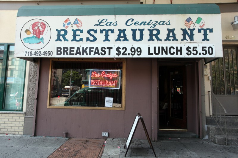 Woodward Vernacular Typography Sunset Park Brooklyn Las Cenizas Restaurant