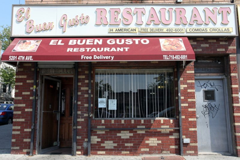 Woodward Vernacular Typography Sunset Park Brooklyn El Buen Gusto Restaurant
