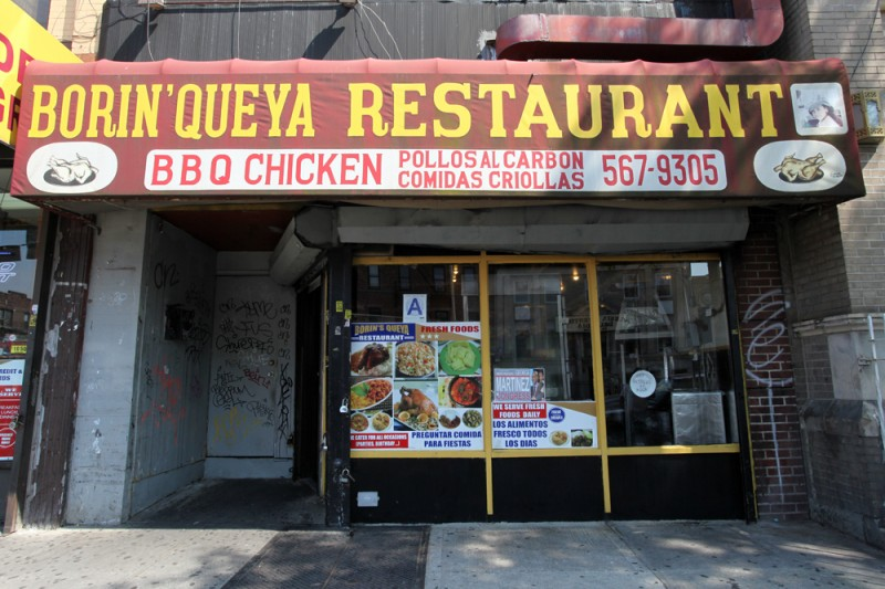 Woodward Vernacular Typography Sunset Park Brooklyn Borin'queya Restaurant