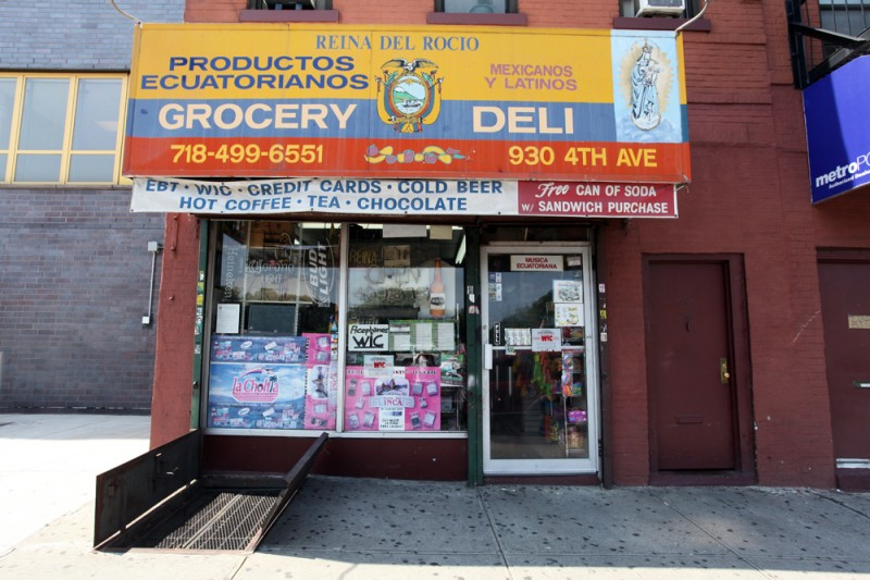 Woodward Vernacular Typography Sunset Park Brooklyn Reina del Rocio Grocery
