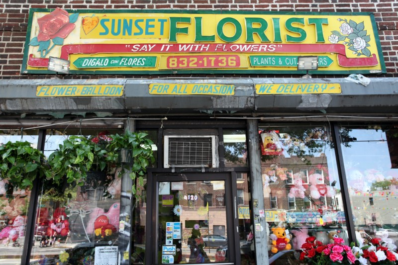 Woodward Vernacular Typography Sunset Park Brooklyn Sunset Florist