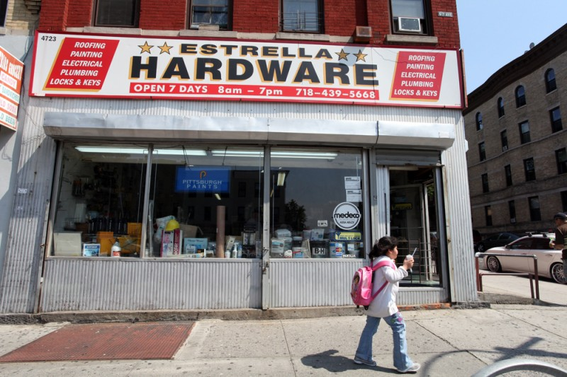 Woodward Vernacular Typography Sunset Park Brooklyn Hardware Store