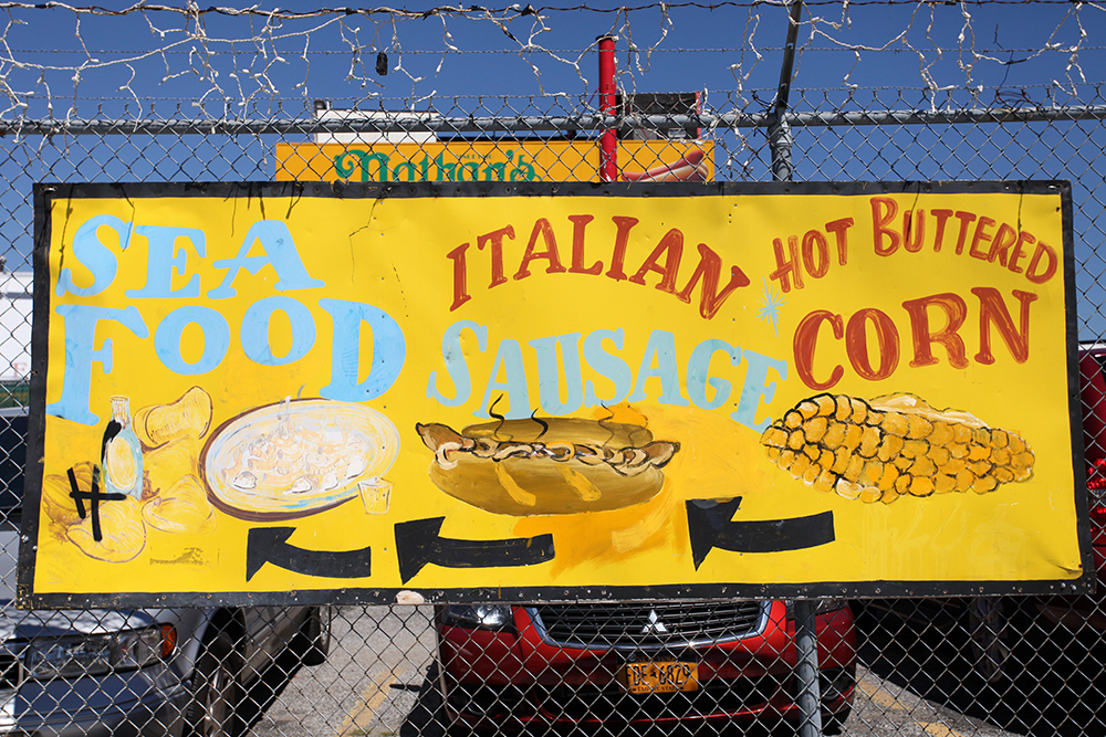 Vernacular Typography Coney Island Hand Painted Sign