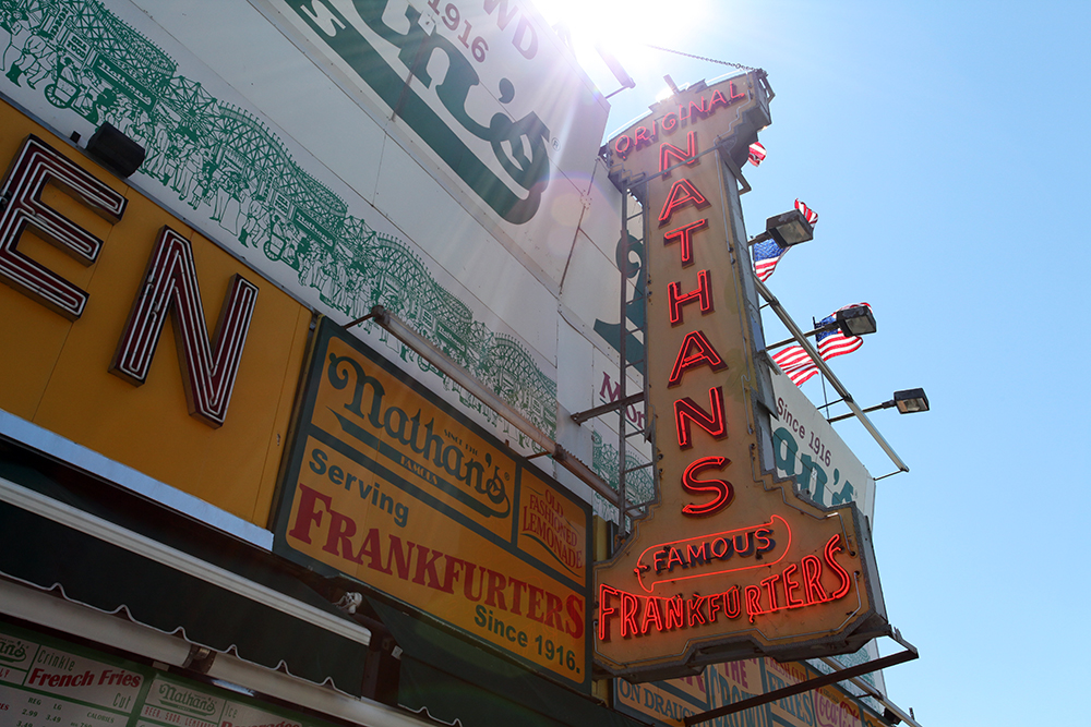 Vernacular Typography Coney Island Nathan's Neon Sign
