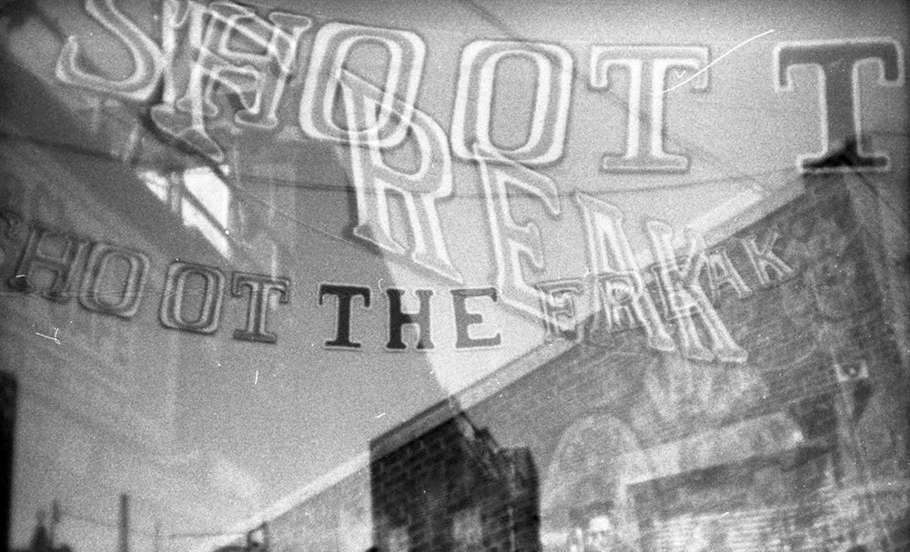 Vernacular Typography Coney Island Shoot The Freak Sign
