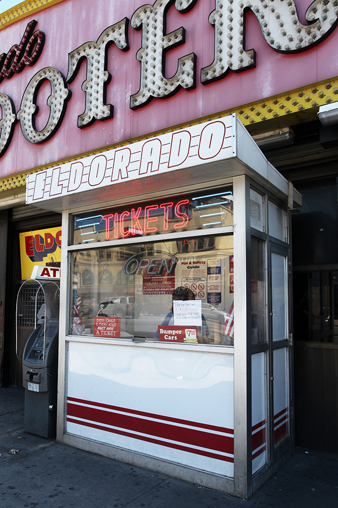 Vernacular Typography Coney Island El Dorado Ticket Booth
