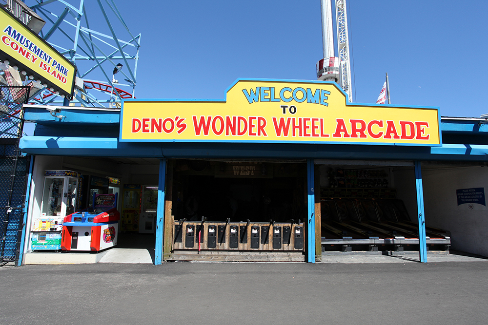 Vernacular Typography Coney Island Wonder Wheel Arcade Sign