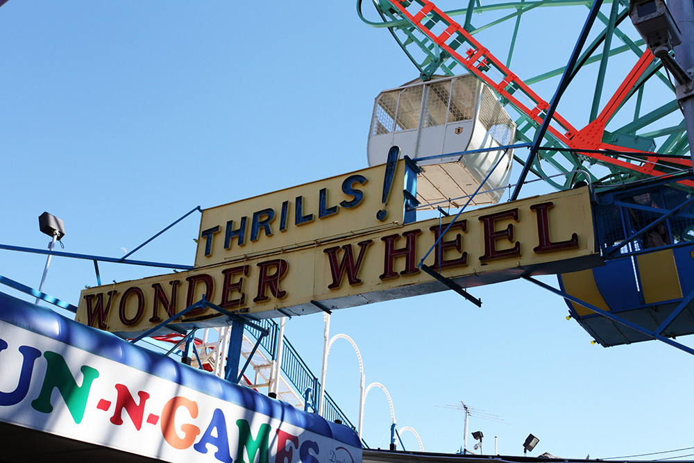 Vernacular Typography Coney Island Wonder Wheel Neon Sign