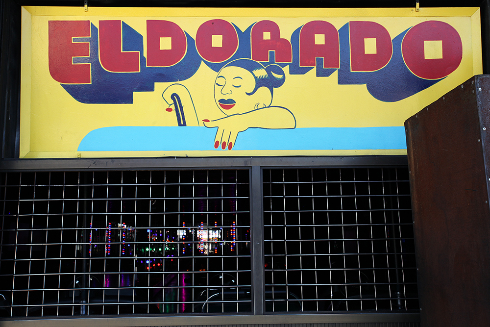 Vernacular Typography Coney Island Dreamland Club Sign El Dorado