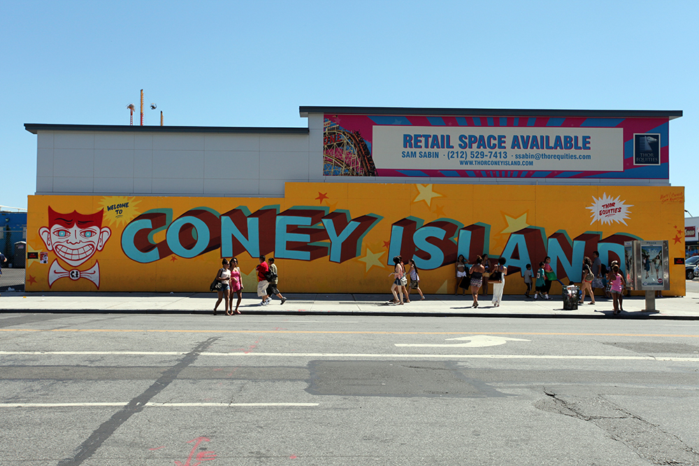 Vernacular Typography Coney Island Retail Space Sign