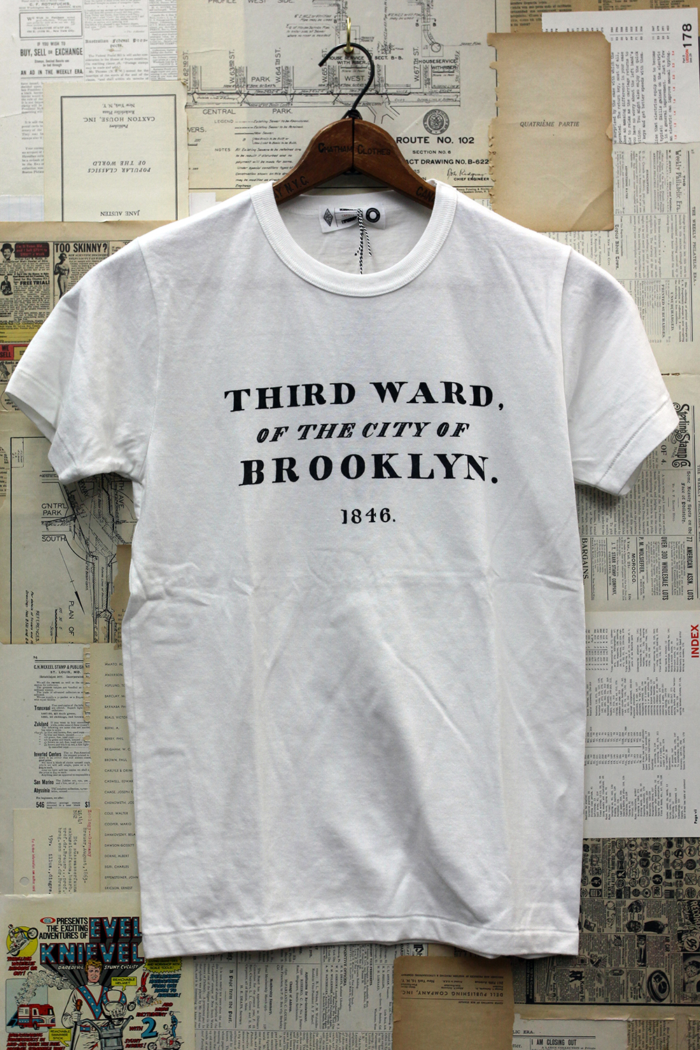 Vernacular Typography Tee Shirt Third Ward of the City of Brooklyn 1846