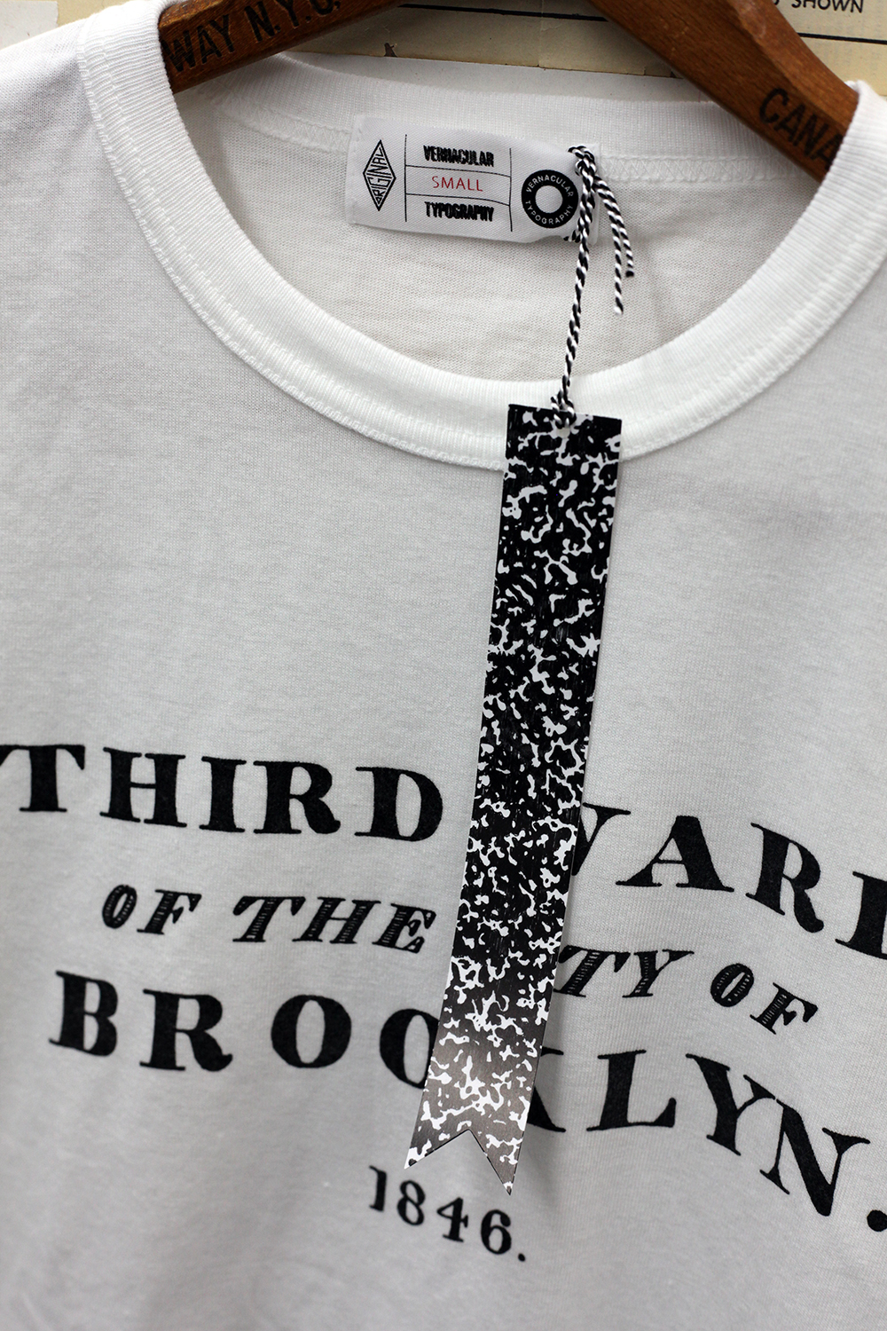 Vernacular Typography T-shirt detail Third Ward of the City of Brooklyn 1846