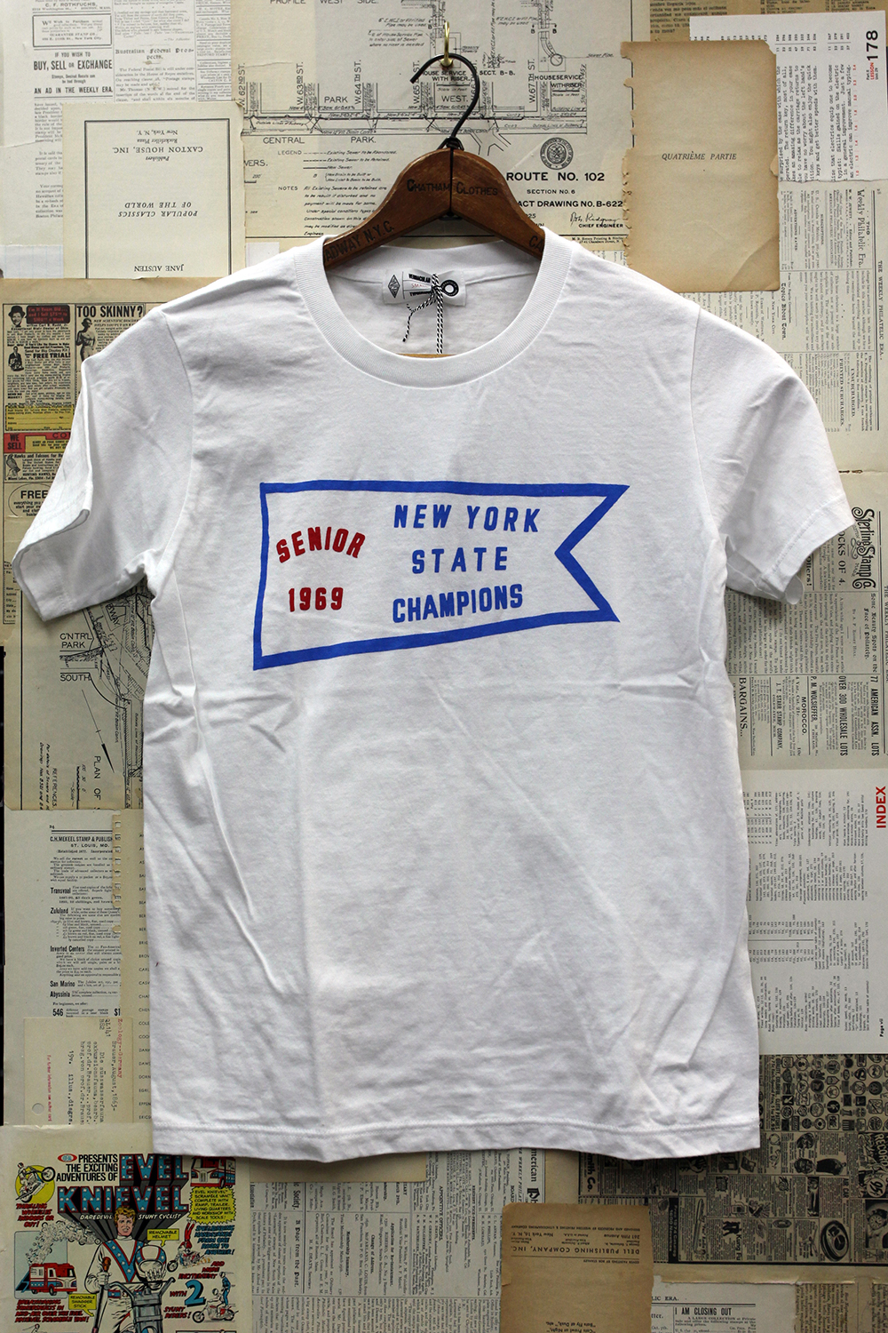 Vernacular Typography Tee Shirt State Champions
