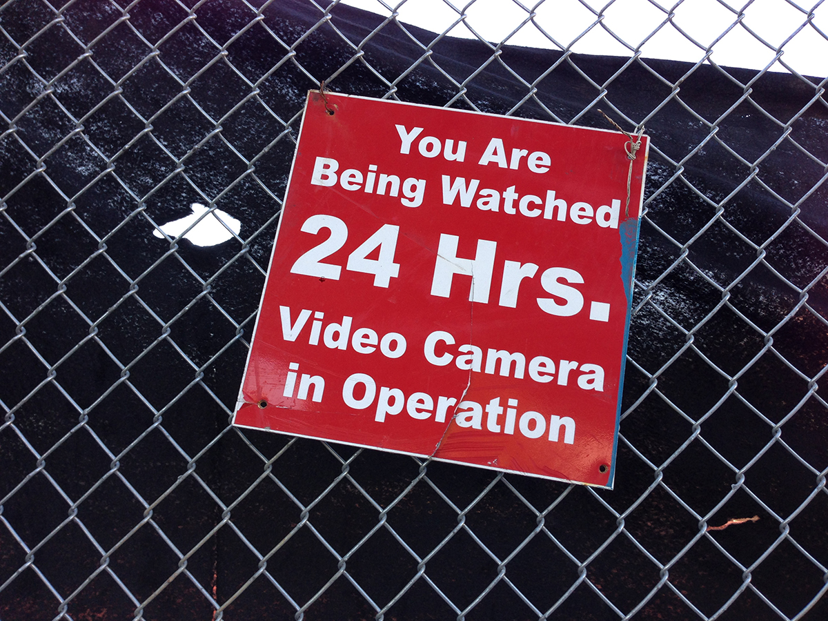 Vernacular Typography You Are Being Watched 24 Hours