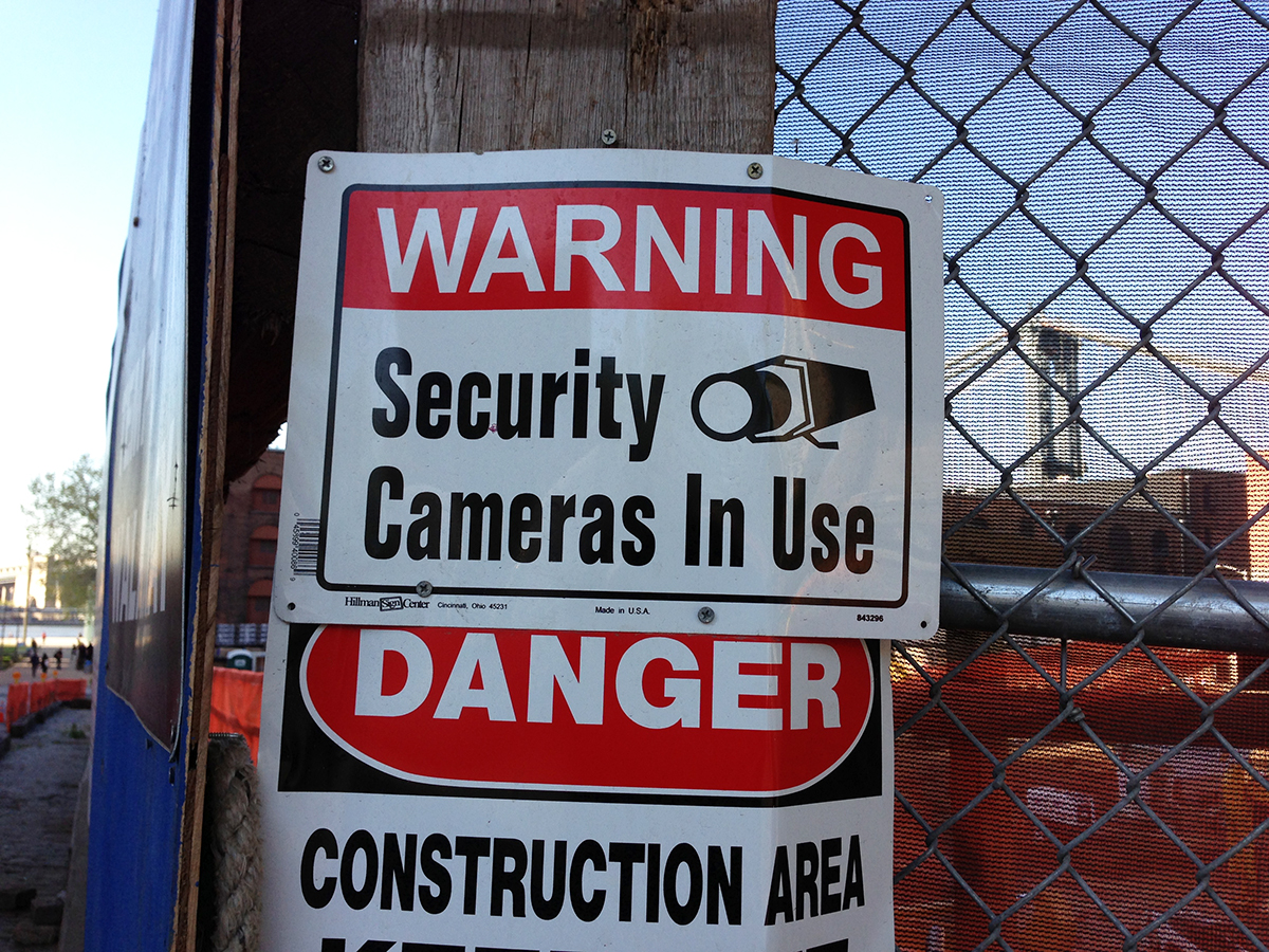 Vernacular Typography Security Camera In Use Signage