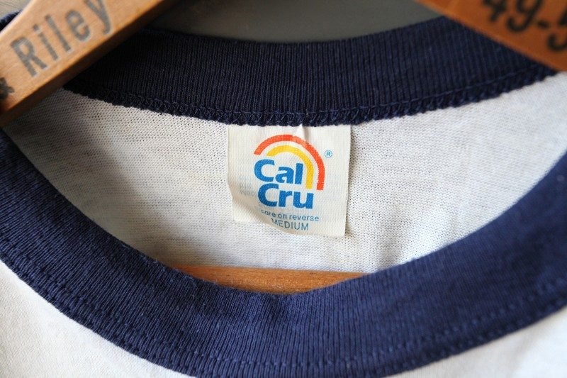 Cal Cru Vintage Baseball Tee Shirt Label