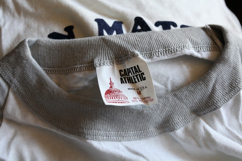 Capital Athletic Vintage Baseball Tee Shirt Label
