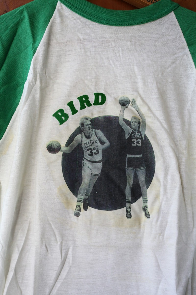 Larry Bird Vintage Basketball Baseball Tee Shirt