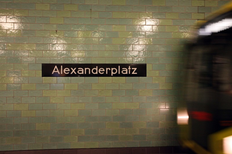 Vernacular Typography Berlin Alexanderplatz UBahn Train Station Sign Lettering