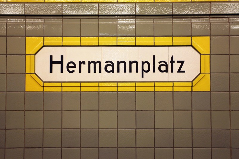 Vernacular Typography Berlin UBahn Train Station Sign Lettering