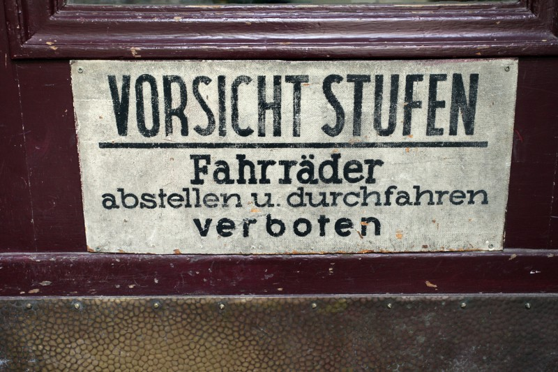 Vernacular Typography Berlin Hand Painted Sign