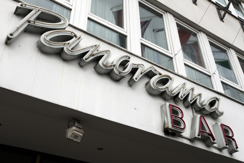 Vernacular Typography Berlin Neon Panorama Bar Sign