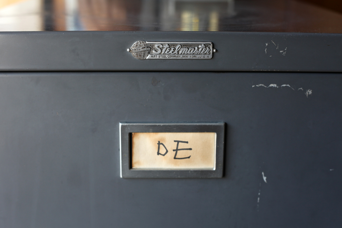 Woodward Vernacular Typography Steelmaster Filing Cabinet