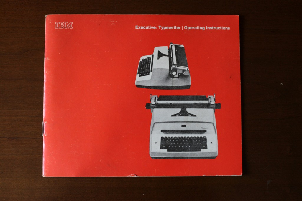 Woodward Vernacular Typography IBM Executive Typewriter Instructions