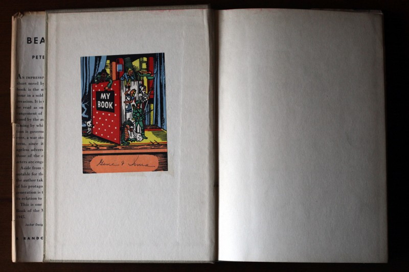 Woodward Vernacular Typography Hardcover Bookplate Ex Libris