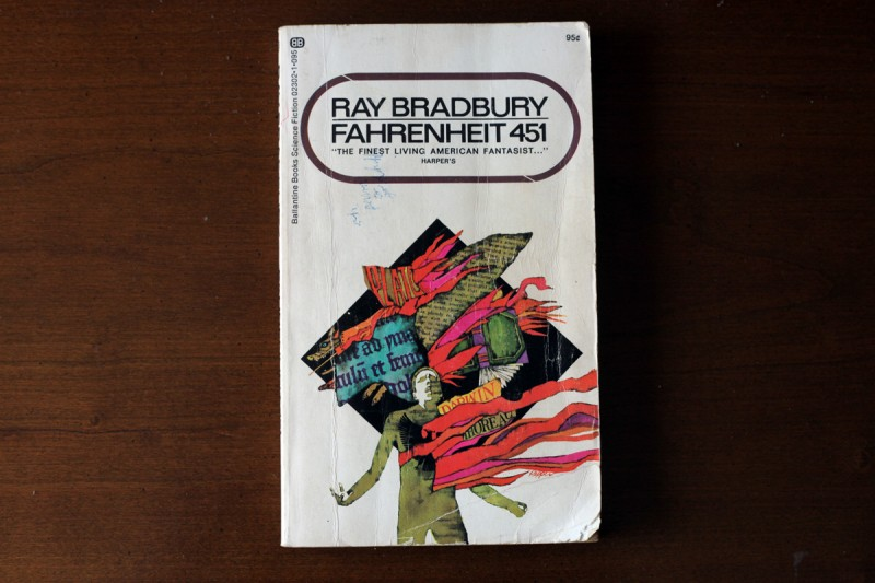 Woodward Vernacular Typography Fahrenheit 451 Book Cover